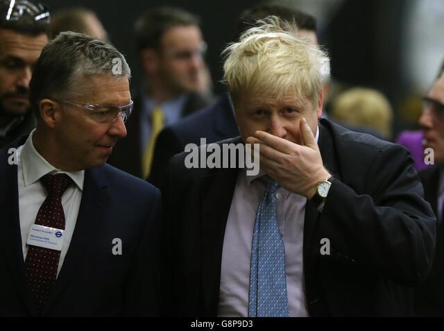 Boris Johnson visit to Northern Ireland - Stock Image