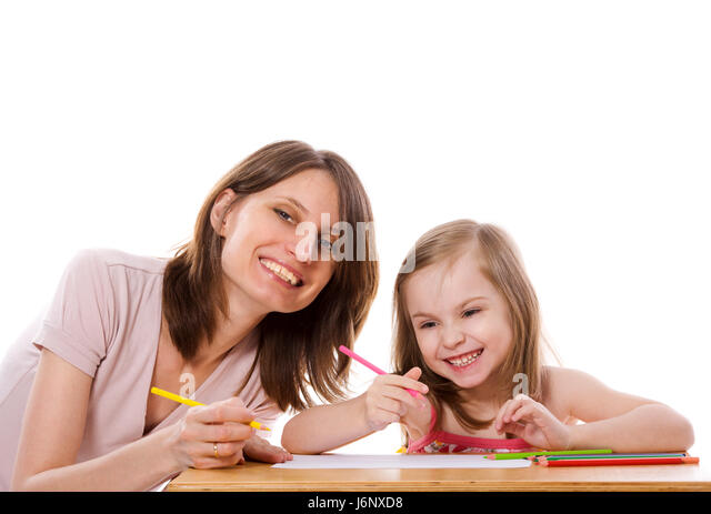 how to draw mother and daughter