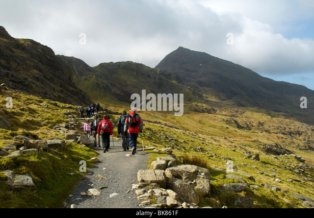 Crib goch in the Snowdon range.  From the Pyg track, Snowdon, Snowdonia, North Wales, UK - Stock Image