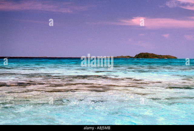 Tropcail Islands colorful water - Stock Image