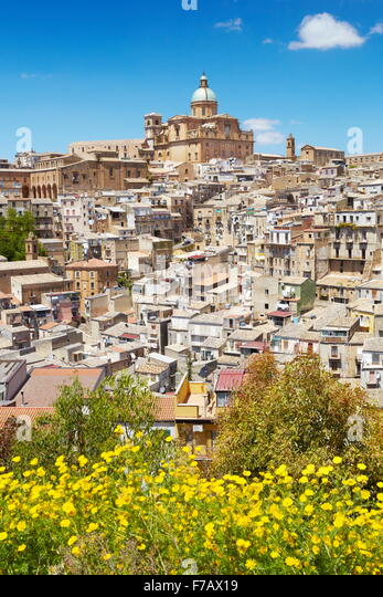 Piaza Armerina, Sicily, Italy - Stock Image