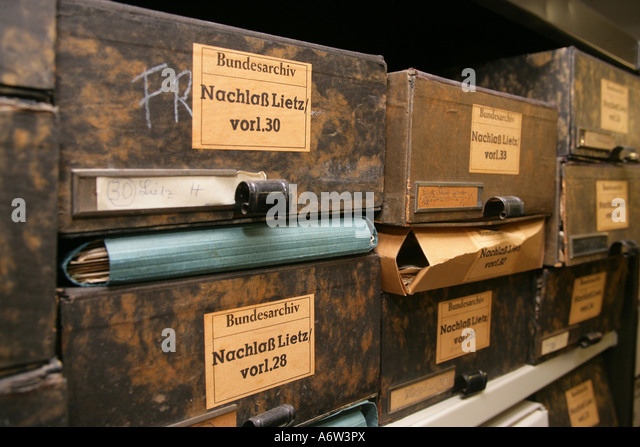 Legacy archive at federal archive in Koblenz, Rhineland-Palatinate, Germany - Stock-Bilder