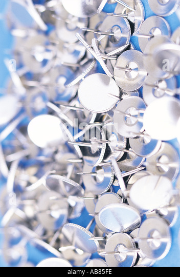 Drawing pins - Stock Image