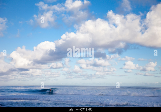 Rocky Point, on the north shore of Oahu, Hawaii. - Stock Image