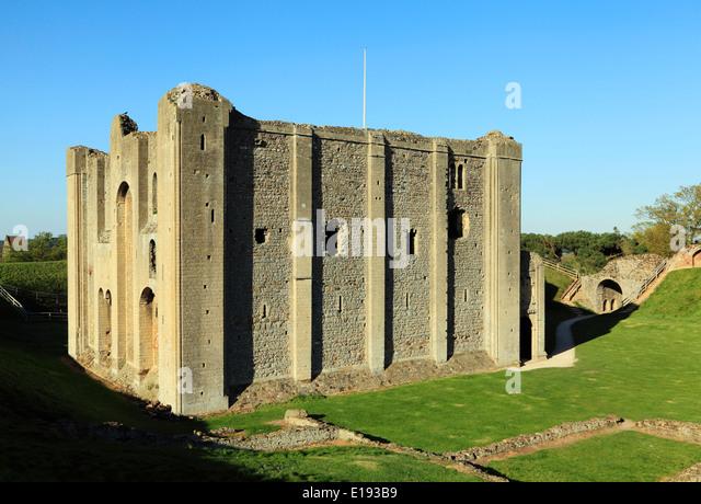 Castle Rising Castle, Norfolk, England UK English Norman castles 12th century keep keeps - Stock Image