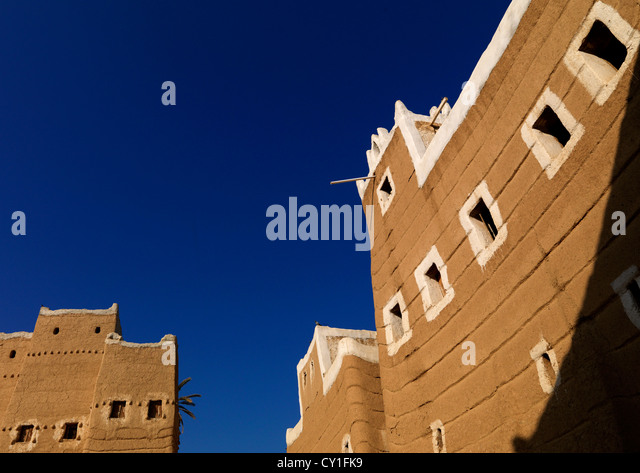 Najran Style Architecture, Saudi Arabia - Stock Image