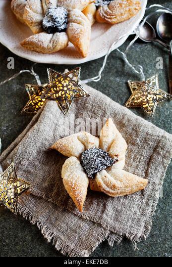 Joulutorttu, traditional finnish christmas pastry - Stock Image