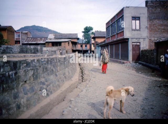 Reportage Nepal 1980. Pokhara - Stock Image