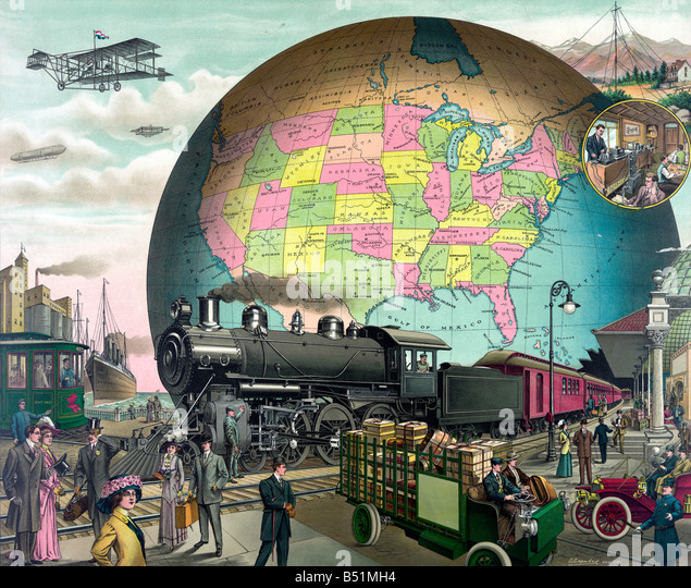 Technological changes throughout the twentieth century - Stock Image