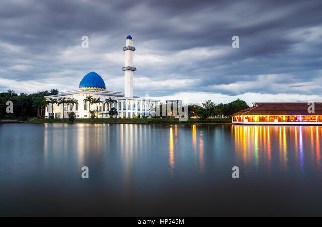 The Uniten Mosque in Malaysia during twilight. - Stock Image