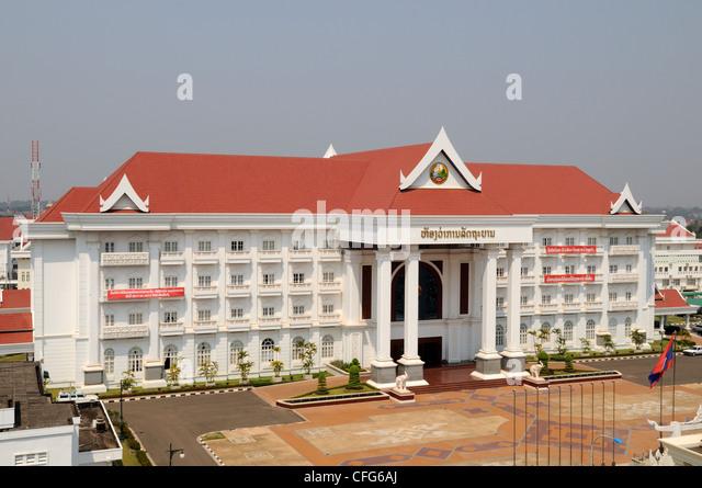 Prime Minister Several Services Building Vientiane Laos - Stock Image