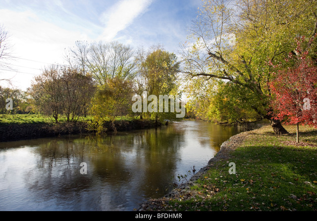 The Brandywine River viewed from The Brandywine River Museum - Stock Image