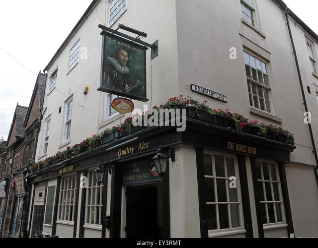 The Kings Head Pub, Rosemary lane, Carlisle City, Cumbria, Lake District, England, UK - Stock Image