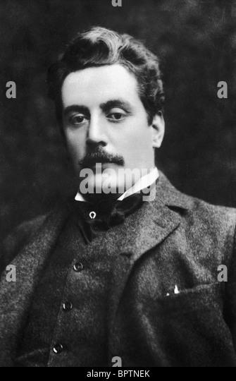 GIACCINI PUCCINI COMPOSER (1908) - Stock Image