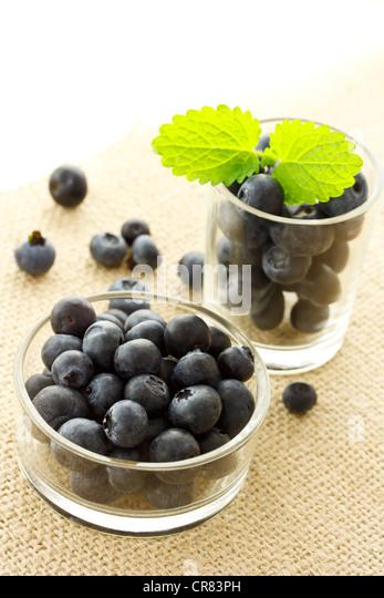 Fresh Blueberries - Stock Image