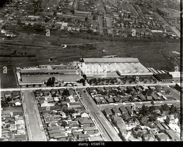 General Motors Holden Ltd Assembly Plant  - 1936 - Stock Image