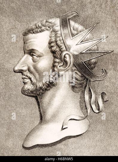 Claudius II or Claudius Gothicus, Roman emperor from 268 to 270 - Stock-Bilder