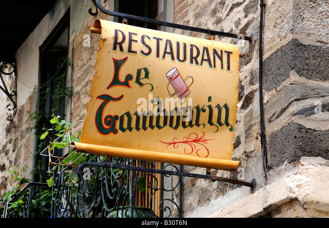 FRENCH RESTAURANT SIGN - Stock-Bilder