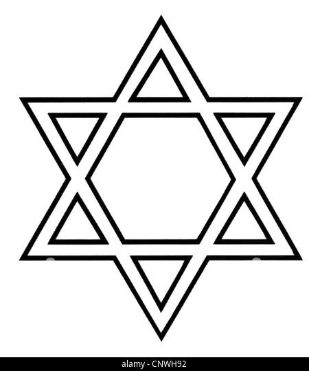 symbols, Star of David, computer graphics, Jews, Judaism, Jewry, symbol, Shield of David, Magen David, - Stock Image