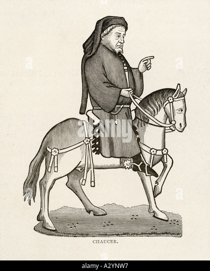 Chaucer Horse Canterbury - Stock Image
