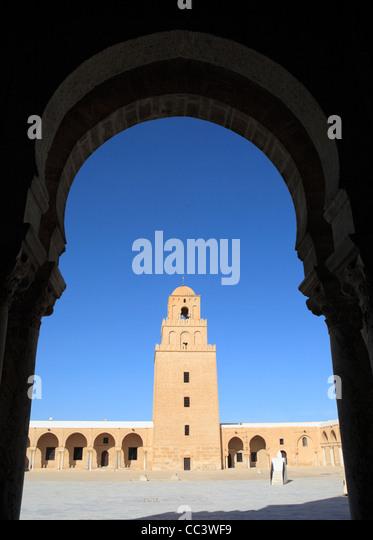 Great Mosque (Sidi Oqba), Kairouan, Tunisia - Stock Image
