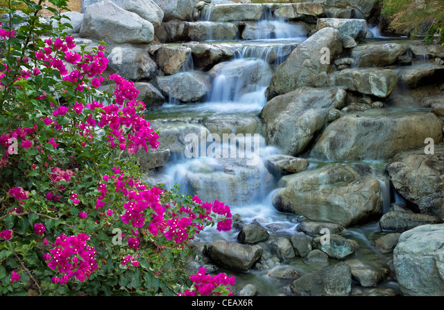 Stream at Desert Willow Golf Resort. Palm Desert, California - Stock-Bilder