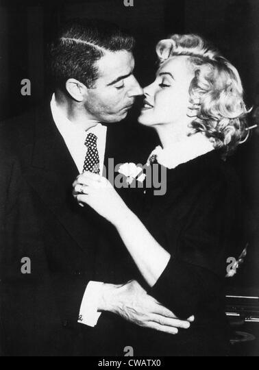 Joe DiMaggio, Marilyn Monroe just after their wedding, 1954 - Stock Image