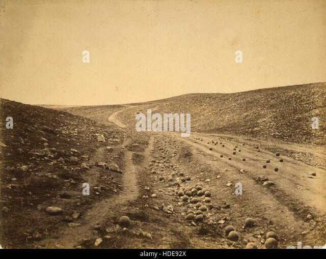 Roger Fenton, The Valley of the Shadow of Death - Stock Image