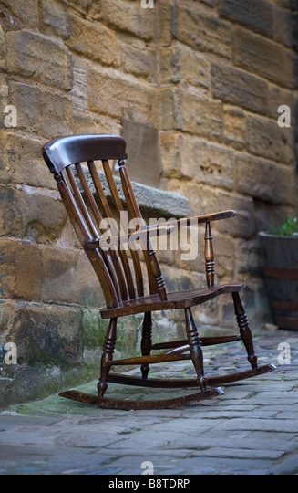 Wood Rocking Chair Stock Photos & Wood Rocking Chair Stock Images ...