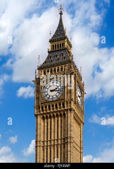 Big Ben at the Palace of Westminster, London, England, UK - Stock Image