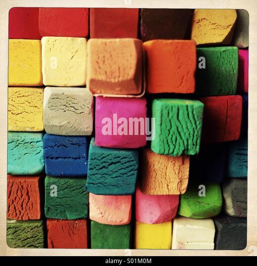 pastel crayons - Stock Image
