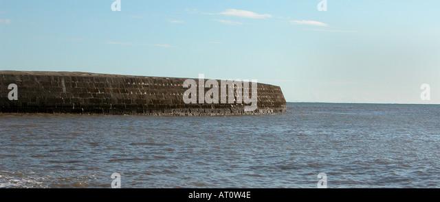 The Cob Lyme Regis Dorset England - Stock Image