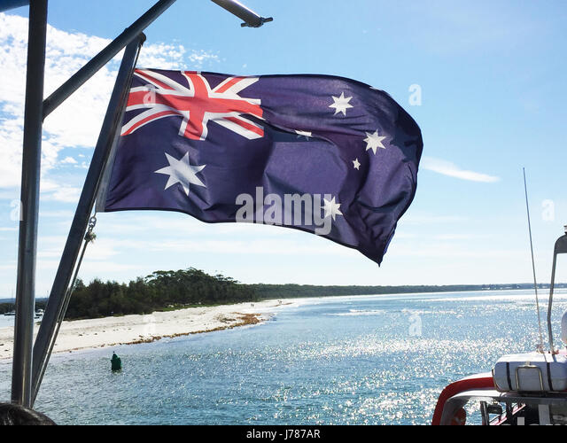 AUSTRALIAN NATIONAL FLAG. Photo Tony Gale - Stock-Bilder