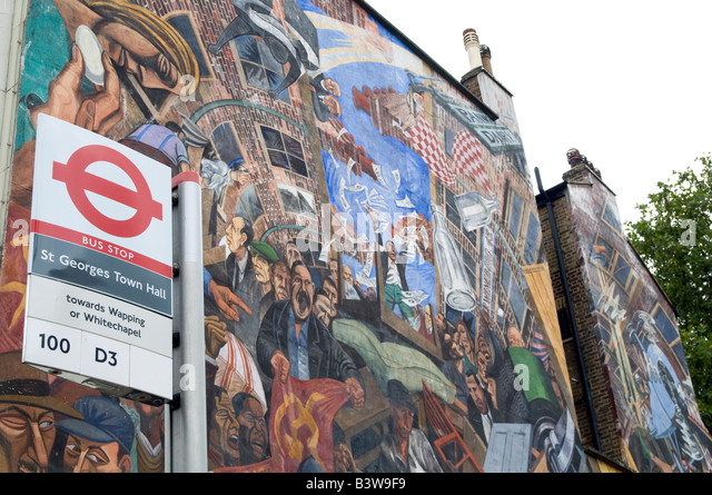 Fascist party stock photos fascist party stock images for Battle of cable street mural