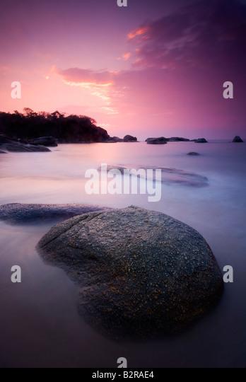 Sunset at Agonda Beach, South Goa, India, Subcontinent, Asia - Stock-Bilder