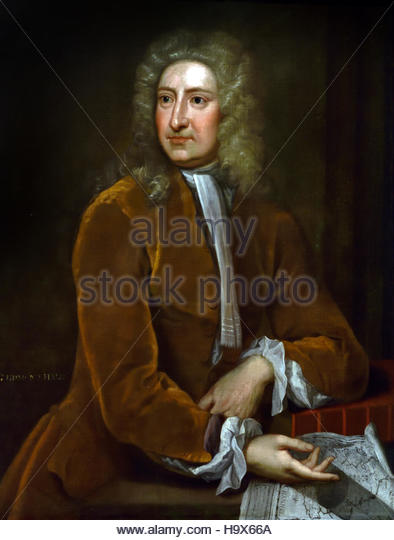 Edmond Halley (1656-1742), Astronomer.1720 Painter Isaac Whood 1688-1752 English England (he predicted for the total - Stock Image