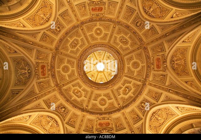 Vienna National History Museum ceiling - Stock Image