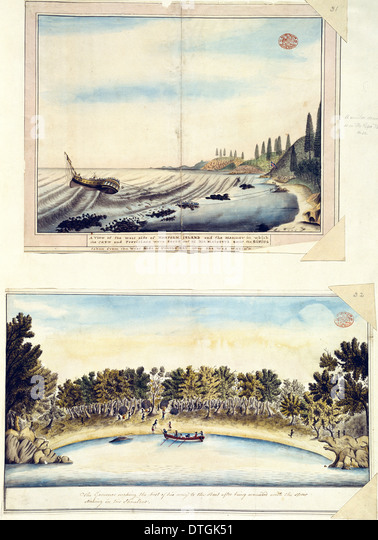 Drawings 22-23 from the Watling Collection - Stock Image