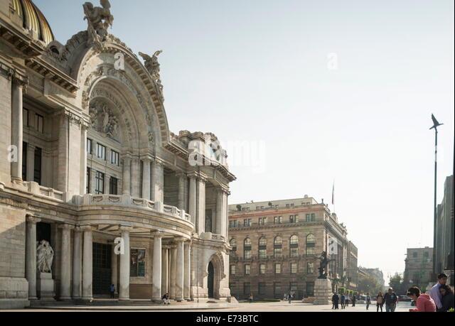 Exterior of Palacio de Bellas Artes, Mexico City, Mexico, North America - Stock Image