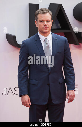 London, UK. 11 July 2016. Actor Matt Damon. Red carpet arrivals for the European Premiere of the Universal movie - Stock-Bilder