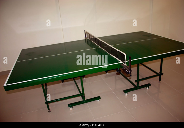 table tennis table - Stock Image