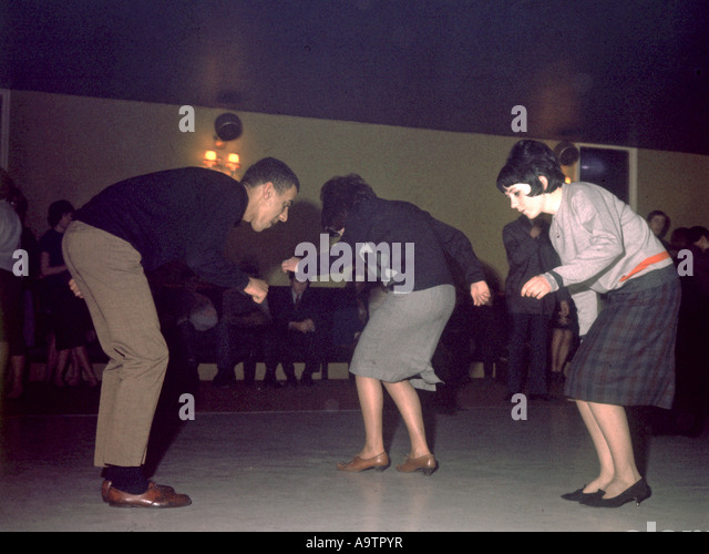 MOD dancers in a London dance hall in 1963 - Stock Image