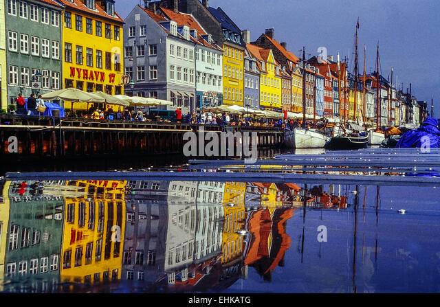Nyhavn. Copenhagen. Denmark. - Stock Image