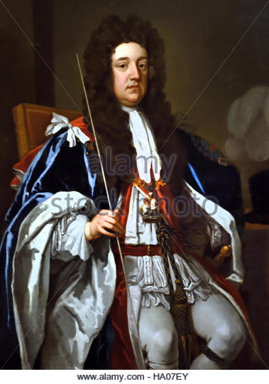 Sidney Godolphin, 1st Earl of Godolphin (1645-1712), Financier.  1705-1707 Sir Godfrey Kneller, Bt (1646-1723), - Stock Image