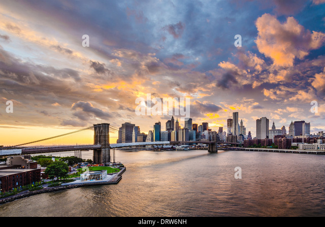 New York City with dramatic cloud cover. - Stock Image