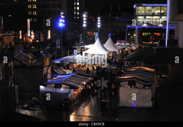 South Bank Centre festive food market and festival 2011, London, UK. - Stock Image