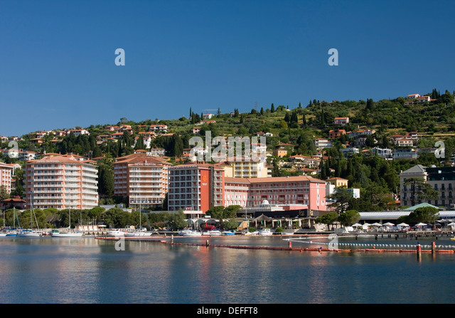 Hotel resorts in Portoroz, Portoro?, Slovenian Istria, Slovenia - Stock-Bilder