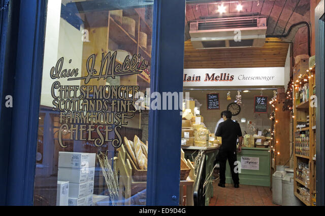 Mellis Cheesemonger Victoria St, Edinburgh, Scotland, UK - Stock Image