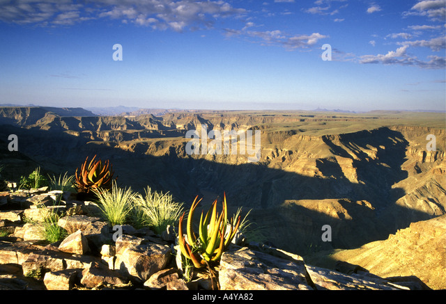 Fish River Canyon in southern Namibia south west Africa - Stock Image