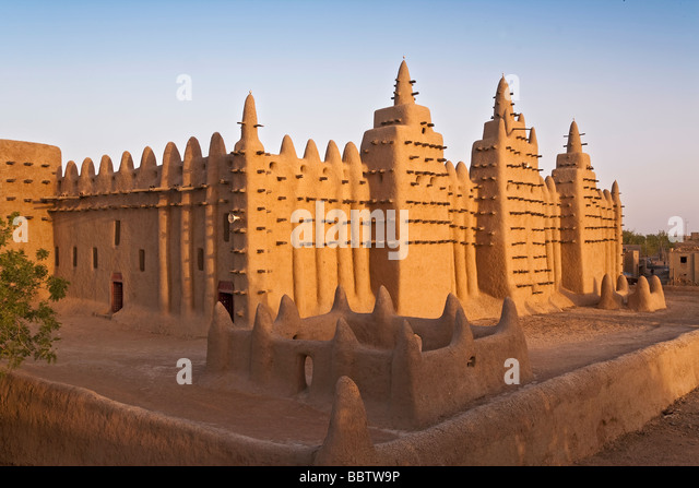 Great Mosque of Djenne, Djenne, Mopti Region, Niger Inland Delta, Mali, West Africa - Stock Image